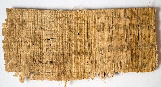 Fourth-century CE codex in Coptic on Back
