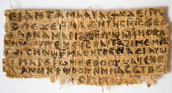 Front of fourth-century papyrus fragment