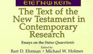 The Text of the New Testament in Research